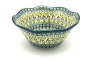 "Ceramika Artystyczna Polish Pottery Bowl - Curvy Edge - 8"" - Mint Chip 691-2195q (Ceramika Artystyczna)"