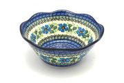 "Ceramika Artystyczna Polish Pottery Bowl - Curvy Edge - 8"" - Morning Glory 691-1915a (Ceramika Artystyczna)"