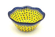 "Ceramika Artystyczna Polish Pottery Bowl - Curvy Edge - 8"" - Sunburst 691-859a (Ceramika Artystyczna)"