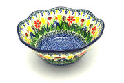 "Ceramika Artystyczna Polish Pottery Bowl - Curvy Edge - 8"" - Unikat Signature U3787 691-U3787 (Ceramika Artystyczna)"