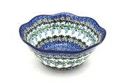 """Ceramika Artystyczna Polish Pottery Bowl - Curvy Edge - 8"""" - Wisteria 691-1473a (Ceramika Artystyczna)"""