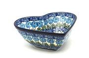 Ceramika Artystyczna Polish Pottery Bowl - Deep Heart - Antique Rose B37-1390a (Ceramika Artystyczna)
