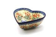 Ceramika Artystyczna Polish Pottery Bowl - Deep Heart - Crimson Bells B37-1437a (Ceramika Artystyczna)