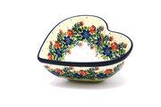 Ceramika Artystyczna Polish Pottery Bowl - Deep Heart - Garden Party B37-1535a (Ceramika Artystyczna)