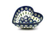 Ceramika Artystyczna Polish Pottery Bowl - Deep Heart - Peacock B37-054a (Ceramika Artystyczna)