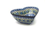 Ceramika Artystyczna Polish Pottery Bowl - Deep Heart - Peacock Feather B37-1513a (Ceramika Artystyczna)