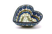 Ceramika Artystyczna Polish Pottery Bowl - Deep Heart - Primrose B37-854a (Ceramika Artystyczna)