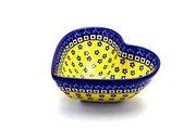 Ceramika Artystyczna Polish Pottery Bowl - Deep Heart - Sunburst B37-859a (Ceramika Artystyczna)