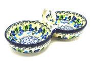 Ceramika Artystyczna Polish Pottery Bowl - Double Serving - Blue Berries 942-1416a (Ceramika Artystyczna)
