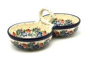 Ceramika Artystyczna Polish Pottery Bowl - Double Serving - Garden Party 942-1535a (Ceramika Artystyczna)
