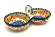 Ceramika Artystyczna Polish Pottery Bowl - Double Serving - Maple Harvest 942-2533a (Ceramika Artystyczna)