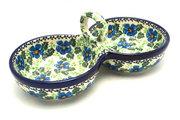 Ceramika Artystyczna Polish Pottery Bowl - Double Serving - Morning Glory 942-1915a (Ceramika Artystyczna)