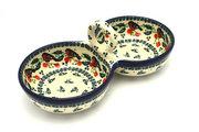 Ceramika Artystyczna Polish Pottery Bowl - Double Serving - Red Robin 942-1257a (Ceramika Artystyczna)