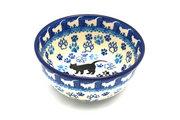 Ceramika Artystyczna Polish Pottery Bowl - Ice Cream/Dessert - Boo Boo Kitty 017-1771a (Ceramika Artystyczna)