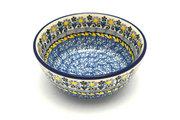Ceramika Artystyczna Polish Pottery Bowl - Ice Cream/Dessert - Daisy Maize 017-2178a (Ceramika Artystyczna)