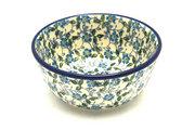 Ceramika Artystyczna Polish Pottery Bowl - Ice Cream/Dessert - Forget-Me-Knot 017-2089a (Ceramika Artystyczna)