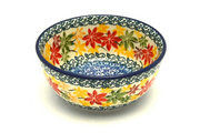 Ceramika Artystyczna Polish Pottery Bowl - Ice Cream/Dessert - Maple Harvest 017-2533a (Ceramika Artystyczna)