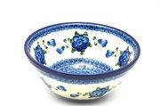 "Ceramika Artystyczna Polish Pottery Bowl - Large Nesting (7 1/2"") - Blue Poppy 057-163a (Ceramika Artystyczna)"
