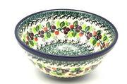 "Ceramika Artystyczna Polish Pottery Bowl - Large Nesting (7 1/2"") - Burgundy Berry Green 057-1415a (Ceramika Artystyczna)"