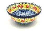 "Ceramika Artystyczna Polish Pottery Bowl - Large Nesting (7 1/2"") - Maple Harvest 057-2533a (Ceramika Artystyczna)"