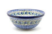 "Ceramika Artystyczna Polish Pottery Bowl - Large Nesting (7 1/2"") - Peacock Feather 057-1513a (Ceramika Artystyczna)"