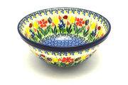"""Ceramika Artystyczna Polish Pottery Bowl - Large Nesting (7 1/2"""") - Unikat Signature U3787 057-U3787 (Ceramika Artystyczna)"""