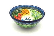 """Ceramika Artystyczna Polish Pottery Bowl - Large Nesting (7 1/2"""") - Unikat Signature U4612 057-U4612 (Ceramika Artystyczna)"""