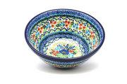 """Ceramika Artystyczna Polish Pottery Bowl - Large Nesting (7 1/2"""") - Unikat Signature U4695 057-U4695 (Ceramika Artystyczna)"""