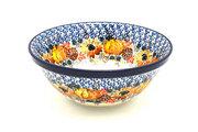 """Ceramika Artystyczna Polish Pottery Bowl - Large Nesting (7 1/2"""") - Unikat Signature U4741 057-U4741 (Ceramika Artystyczna)"""