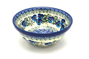 "Ceramika Artystyczna Polish Pottery Bowl - Large Nesting (7 1/2"") - Winter Viola 057-2273a (Ceramika Artystyczna)"