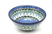 """Ceramika Artystyczna Polish Pottery Bowl - Large Nesting (7 1/2"""") - Wisteria 057-1473a (Ceramika Artystyczna)"""