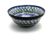 "Ceramika Artystyczna Polish Pottery Bowl - Larger Nesting (9"") - Antique Rose 056-1390a (Ceramika Artystyczna)"