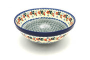"Ceramika Artystyczna Polish Pottery Bowl - Larger Nesting (9"") - Cherry Blossom 056-2103a (Ceramika Artystyczna)"