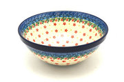 "Ceramika Artystyczna Polish Pottery Bowl - Larger Nesting (9"") - Cherry Jubilee 056-2284a (Ceramika Artystyczna)"