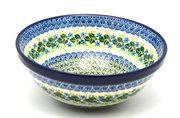 "Ceramika Artystyczna Polish Pottery Bowl - Larger Nesting (9"") - Ivy Trail 056-1898a (Ceramika Artystyczna)"