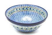 "Ceramika Artystyczna Polish Pottery Bowl - Larger Nesting (9"") - Peacock Feather 056-1513a (Ceramika Artystyczna)"