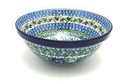 """Ceramika Artystyczna Polish Pottery Bowl - Larger Nesting (9"""") - Unikat Signature U4520 056-U4520 (Ceramika Artystyczna)"""