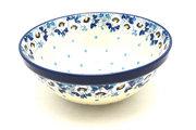 "Ceramika Artystyczna Polish Pottery Bowl - Larger Nesting (9"") - White Poppy 056-2222a (Ceramika Artystyczna)"