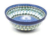 "Ceramika Artystyczna Polish Pottery Bowl - Larger Nesting (9"") - Wisteria 056-1473a (Ceramika Artystyczna)"