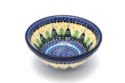 "Ceramika Artystyczna Polish Pottery Bowl - Medium Nesting (6 1/2"") - Christmas Trees 058-1284a (Ceramika Artystyczna)"