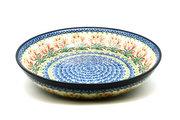 Ceramika Artystyczna Polish Pottery Bowl - Pasta Serving - Large - Crimson Bells 115-1437a (Ceramika Artystyczna)