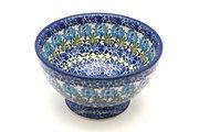 Ceramika Artystyczna Polish Pottery Bowl - Pedestal - Small - Antique Rose 206-1390a (Ceramika Artystyczna)
