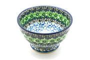 Ceramika Artystyczna Polish Pottery Bowl - Pedestal - Small - Kiwi 206-1479a (Ceramika Artystyczna)