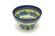 Ceramika Artystyczna Polish Pottery Bowl - Pedestal - Small - Morning Glory 206-1915a (Ceramika Artystyczna)