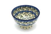 Ceramika Artystyczna Polish Pottery Bowl - Pedestal - Small - Terrace Vines 206-1822a (Ceramika Artystyczna)
