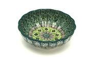 Ceramika Artystyczna Polish Pottery Bowl - Shallow Scalloped - Small - Aztec Forest 023-1919q (Ceramika Artystyczna )