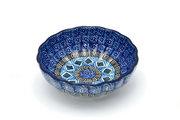 Ceramika Artystyczna Polish Pottery Bowl - Shallow Scalloped - Small - Aztec Sky 023-1917a (Ceramika Artystyczna)