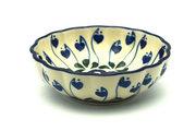 Ceramika Artystyczna Polish Pottery Bowl - Shallow Scalloped - Small - Bleeding Heart 023-377o (Ceramika Artystyczna)