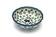 Ceramika Artystyczna Polish Pottery Bowl - Shallow Scalloped - Small - Boo Boo Kitty 023-1771a (Ceramika Artystyczna )
