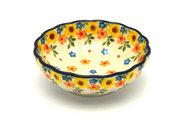 Ceramika Artystyczna Polish Pottery Bowl - Shallow Scalloped - Small - Buttercup 023-2225a (Ceramika Artystyczna )
